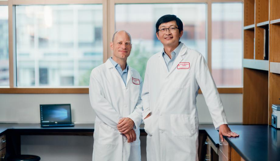 Dr. Kissler and Dr. Yi at Joslin Diabetes Center